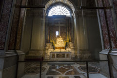 Pieta statue of Michelangelo in Basilica of saint Peter, Vatican Royalty Free Stock Photography