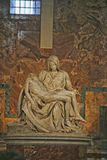 Pieta Statue, Vatican City. Michelangelos famous Pieta Statue in St. Peters Basilica in  Vatican, Rome, Italy Royalty Free Stock Photos
