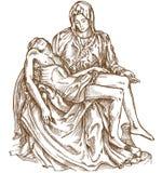 Pieta statue of Michelangelo Stock Image
