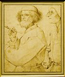Pieter BRUEGEL l'aîné : ` Le peintre et le ` d'acheteur Photo stock
