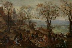 Pieter Stevens II - fiera paesana illustrazione di stock