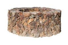 Pietra antica tradizionale bene su bianco Fotografia Stock Libera da Diritti