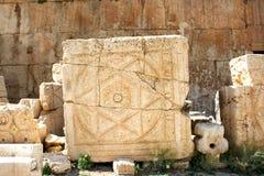 Pietra a Baalbek, Libano, Medio Oriente Fotografie Stock Libere da Diritti