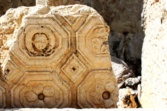 Pietra a Baalbek, Libano, Medio Oriente Immagine Stock