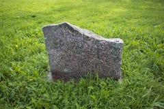 Pietra in bianco commemorativa piana del granito fotografia stock libera da diritti