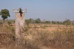 Pietra commemorativa molto vecchia in bastar Fotografia Stock Libera da Diritti