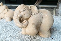 Pietra decorativa dell'elefante Fotografia Stock