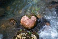 Pietra del cuore Fotografia Stock