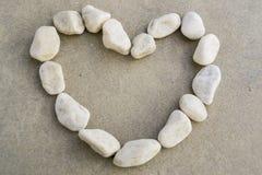 Pietra del cuore Fotografie Stock