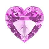 pietra del cuore del diamante di rosa dell'illustrazione 3D illustrazione di stock