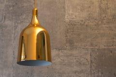 Pietra del fondo dell'oro della lampada Fotografia Stock Libera da Diritti