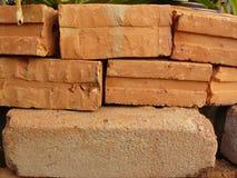 Pietra del mattone rosso Fotografia Stock Libera da Diritti