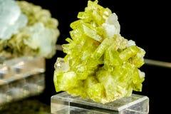 Pietra del minerale di Brazilianite Fotografie Stock