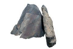 Pietra dell'ardesia: è una roccia metamorfica a grana fine, a forma di foglia, omogenea derivata da una roccia sedimentaria scist immagine stock libera da diritti