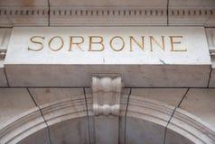 Pietra dell'incisione di Sorbonne Fotografia Stock Libera da Diritti