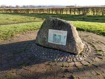 Pietra di commemorazione di battaglia del ponte di Stamford immagini stock libere da diritti