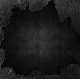 Pietra di lerciume e fondo del metallo Fotografie Stock