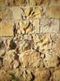 Pietra di preghiera della parete di Gerusalemme Chiuda sulla foto, il cemento antico, posto religioso Fotografia Stock Libera da Diritti