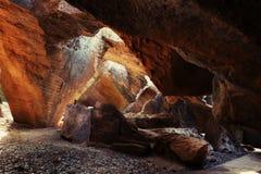 Pietra dorata della caverna Fotografie Stock Libere da Diritti