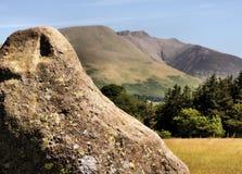 Pietra e montagna di Castlerigg vicino a Keswick Fotografia Stock Libera da Diritti