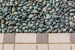 Pietra e pavimentazioni in piastrelle Immagine Stock