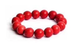 Pietra fortunata del braccialetto del diaspro del corallo rosso Fotografia Stock