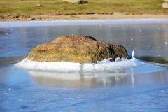 Pietra in ghiaccio fotografia stock