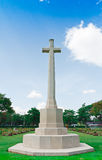 Pietra grave al cimitero della seconda guerra mondiale, Fotografie Stock Libere da Diritti