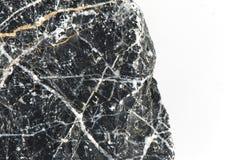 Pietra isolata su fondo bianco, pietra naturale con invecchiamento Immagini Stock
