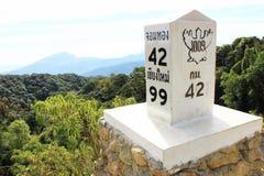 Pietra miliare dalla Chiangmai-Tailandia Immagini Stock Libere da Diritti