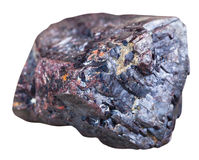 Pietra minerale del Cuprite rosso isolata su bianco Immagini Stock
