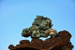 Pietra minerale verde Fotografia Stock