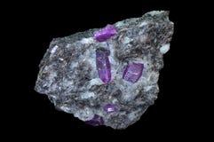 Pietra minerale vermiglia del corindone Fotografia Stock