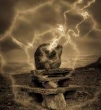 Pietra misteriosa Fotografia Stock Libera da Diritti