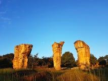 Pietra a MOR HIN KHAOW CHAIYAPHUM di mattina ` s Stoneheng Fotografia Stock Libera da Diritti