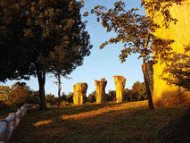 Pietra a MOR HIN KHAOW CHAIYAPHUM di mattina ` s Stoneheng Immagini Stock Libere da Diritti