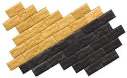 Pietra naturale senza cuciture delle mattonelle di affronto di struttura delle mattonelle di marmo beige Immagini Stock Libere da Diritti