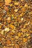 Pietra nel fiume con una piccola onda Fotografia Stock Libera da Diritti
