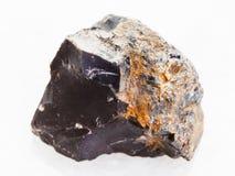 pietra nera ruvida del silice su marmo bianco Immagini Stock Libere da Diritti
