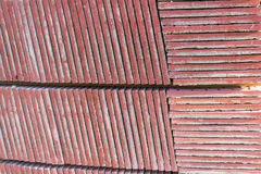 Pietra per lastricati concreta rossa Immagini Stock