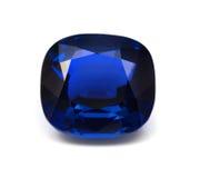 Pietra preziosa blu naturale dello zaffiro Immagini Stock Libere da Diritti