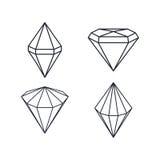 Pietra preziosa del diamante Fotografie Stock Libere da Diritti