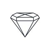 Pietra preziosa del diamante Fotografie Stock