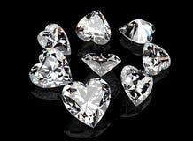 Pietra preziosa di forma del cuore collezioni dei gioielli royalty illustrazione gratis