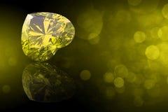 Pietra preziosa di forma del cuore. Collezioni di gemme dei gioielli royalty illustrazione gratis