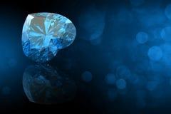 Pietra preziosa di forma del cuore. Collezioni di gemme dei gioielli illustrazione di stock