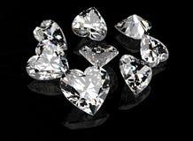 Pietra preziosa di forma del cuore Collezioni di gemme dei monili illustrazione di stock
