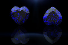 Pietra preziosa di forma del cuore Collezioni di gemme dei monili sapp illustrazione vettoriale