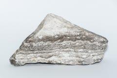 Pietra preziosa minerale della pietra preziosa del gioiello grigio e bianco della gemma Fotografia Stock