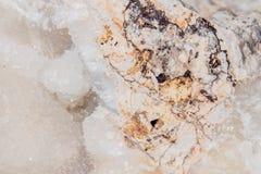 Pietra preziosa minerale 3 della pietra preziosa di Kalksinter del gioiello bianco della gemma Immagini Stock Libere da Diritti